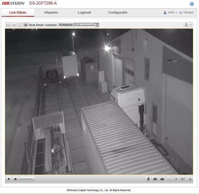 IP camera via webpagina