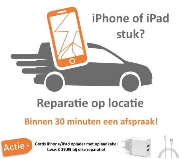 iPad - iPhone reparatie op locatie