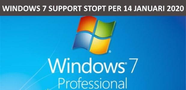 windows 7 support stopt per 14 januari 2020