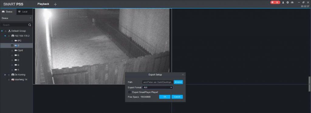 Dahua Smart PSS handleiding beelden opslaan bestandsformaat